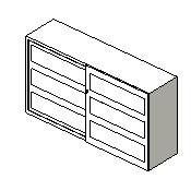 Strata 2 Sliding Door Cabinet - Revit